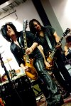 Steve Stevens, special guest with Franky Perez at the So L.A. book launch; Gibson Guitar Showroom